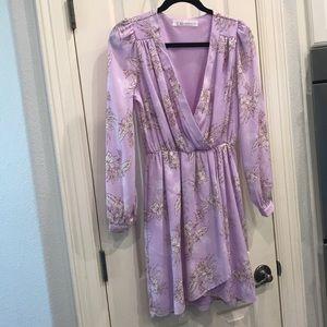 silky purple dress